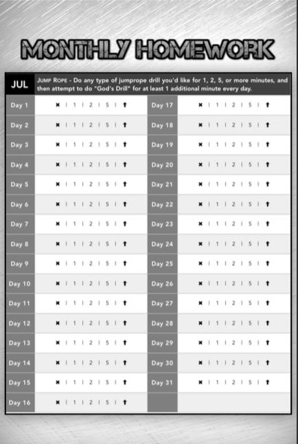 Monthly Homework